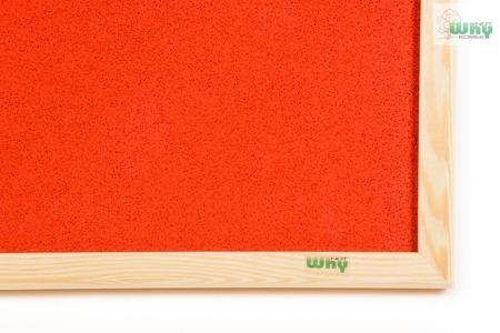Tablica korkowa barwiona w ramie drewnianej 100x120 cm