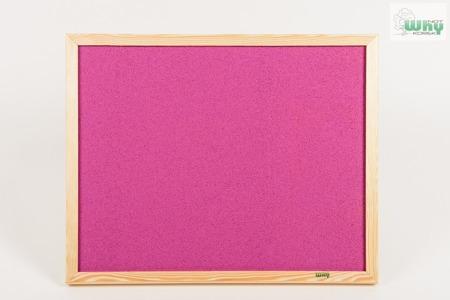 Tablica korkowa barwiona w ramie drewnianej 50x70 cm