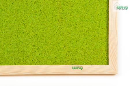 Tablica korkowa barwiona w ramie drewnianej 90x100 cm
