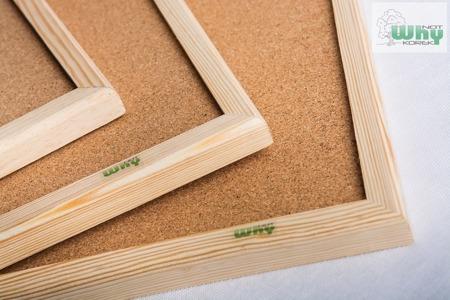 Tablica korkowa w ramie drewnianej 100x100 cm