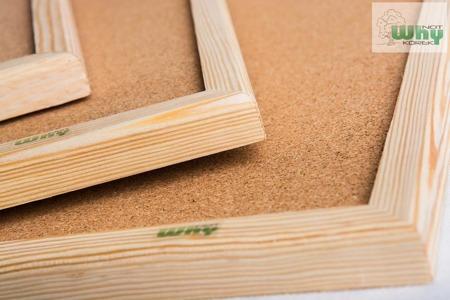 Tablica korkowa w ramie drewnianej 100x170 cm