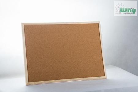 Tablica korkowa w ramie drewnianej 90 x 150 cm