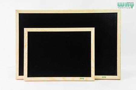 Tablica kredowa czarna w ramie drewnianej 80x100 cm