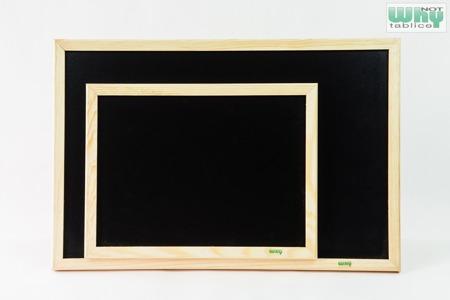 Tablica kredowa czarna w ramie drewnianej 90x120 cm
