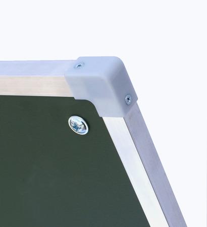 Tablica magnetyczno-suchościeralna w ramie aluminiowej 100x240 cm typu tryptyk biała