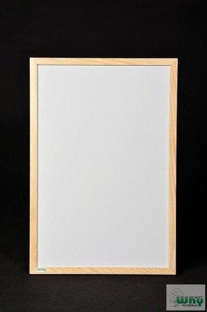Tablica magnetyczno-suchościeralna w ramie drewnianej 40x50 cm